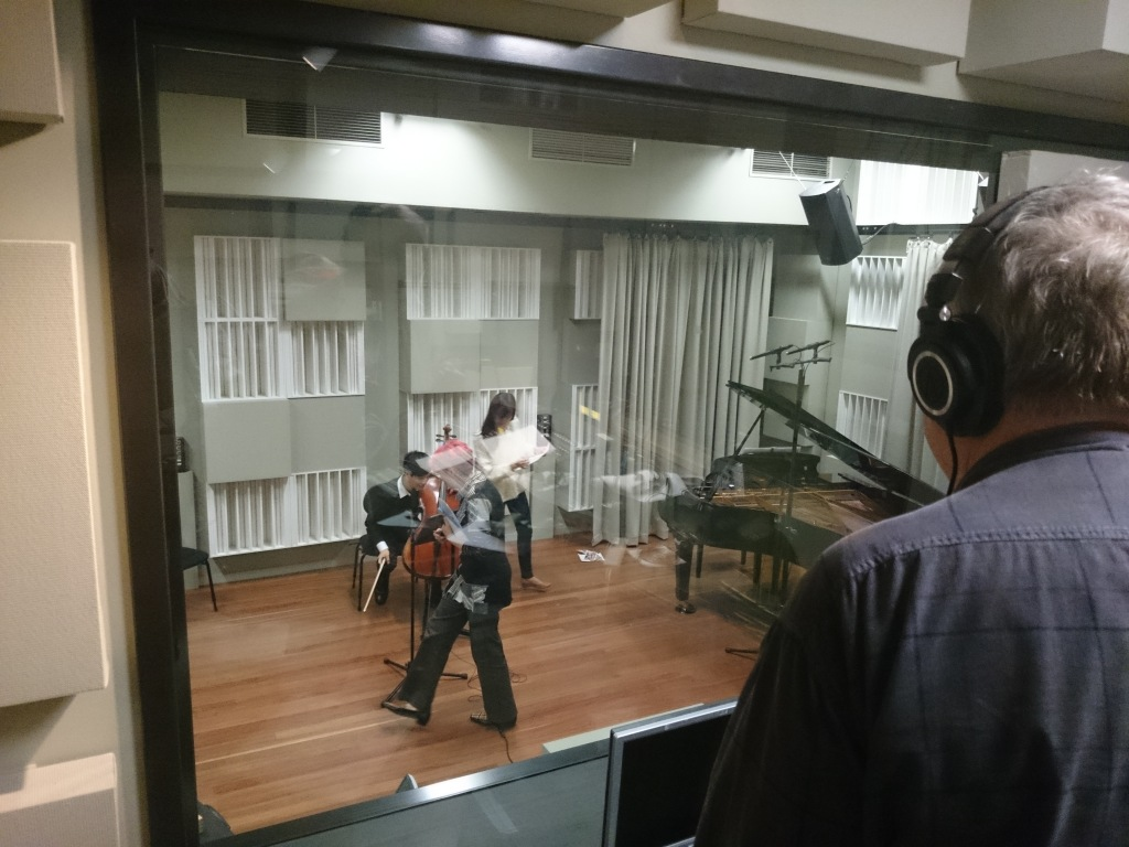 Recording at Finemusic FM, Sydney