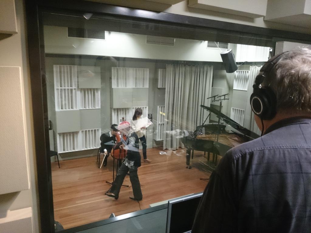 Recording at Finemusic FM, Sydney